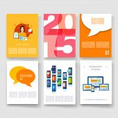 Applications and Infographic Concept. Flyer, Brochure Design Modern user interface (ux, ui) screen t