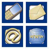 web icons - contact info