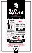 Wine List. Design template.