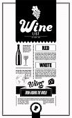 stock photo of silkscreening  - Wine List - JPG