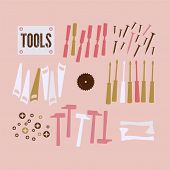 Abstract Background with tools