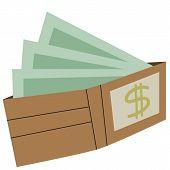 illustration pocket money wallet full