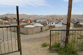 Yurts in the suburb of Ulaanbaatar city, Mongolia.