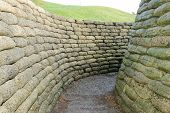 foto of battlefield  - The trenches on battlefield of Vimy ridge France - JPG