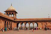 Court of the Jama Masjid Of Delhi