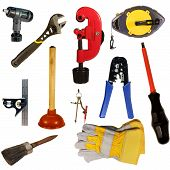 Hand Tools Collection Isolated