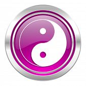 ying yang violet icon