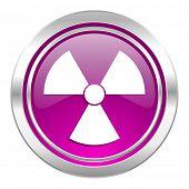 radiation violet icon atom sign