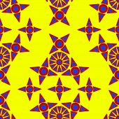 Seamless Patterns Irregular Geometric Shapes