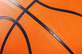 Close up of basketball texture background