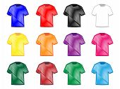 Tee Shirts In Different Colours Pencil Style 2