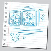 Schoolkids in school bus
