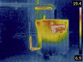 picture of thermal  - Thermal Image of a Heat Insulation of the Central Heating Furnace Tubes - JPG