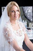 Beauty Bride In Wedding Dress