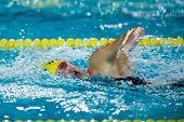 Milan - December  23:  L. Bersanetti  (italy)  Performing In  Swimming Meeting Brema Cup On December