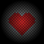 Valentines Day heart tile background