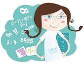 Chica de matemáticas