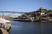 View To Doru River Embankment In Oporto City