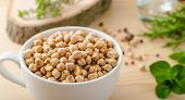 pic of legume  - Raw and healthy chickpeas Simple but delicious legume used in Middle Eastern cuisine - JPG