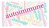 foto of endocrine  - Autoimmune word cloud on a white background - JPG