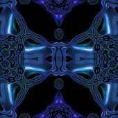 pic of celtic  - Abstract metallic blue viking or celtic like pattern made seamless - JPG