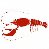 picture of craw  - Red Lobster Isolated on White Background - JPG