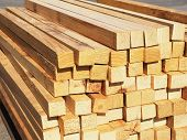 pic of timber  - Pile of plantation grown dressed pine for industrial packaging - JPG