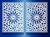 pic of hari raya aidilfitri  - window Steel white flower Combination of circles and ovals Background Pattern - JPG