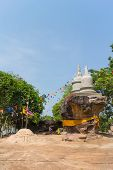 pic of worship  - place of worship that stupa on stone hill under sunlight - JPG