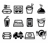 stock photo of food  - Food icons set  - JPG