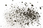 stock photo of ashes  - Closeup of ash dispersed on white background - JPG