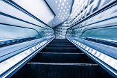 pic of escalator  - escalator of modern office building - JPG