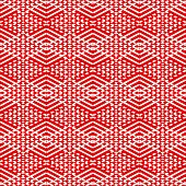 stock photo of scandinavian  - Tile red and white pattern or vector scandinavian background for seamless decoration wallpaper - JPG