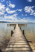 picture of bavaria  - Jetty at lake  - JPG