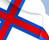 image of faro  - 3D Flag of Faroe Islands - JPG