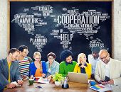 foto of coworkers  - Coorperation Business Coworker Planning Teamwork Concept - JPG