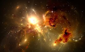 picture of star shape  - Space background with nebula and stars - JPG