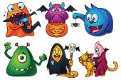 Постер, плакат: Cute Cartoon Monsters Set