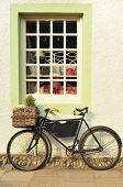 Bike Outside An Old-fashioned Shop