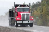 foto of dump-truck  - taken on highway 17 west in driving rain - JPG