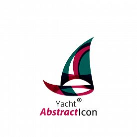picture of emblem  - Abstract geometric business corporate emblem - JPG
