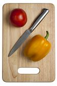 Tomato, Knife, Pepper