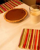 Pumpkin Pie And Fresh Whipping Cream