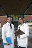 2 Doctors Outside Of Hospital