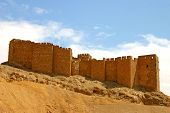 pic of euphrat  - historic castle of ancient palmyra in syria - JPG