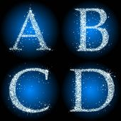 letters stars blue ABCD
