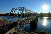 Washington Crossing Bridge Over The Delaware River
