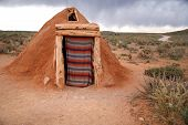Постер, плакат: Hogan navajo Native Indian House