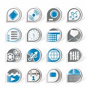 Simple phone  performance, internet and office icons