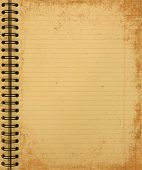 Grunge Yellow Notebook
